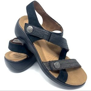 Rockport Cobb hill black sandals 7 US